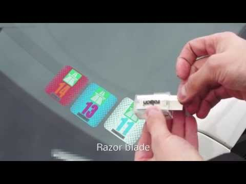Removal of road tax from car windshield | removal of vignette