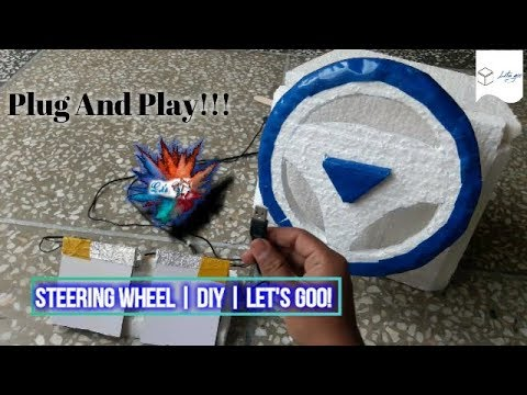 Steering Wheel For Pc | V.Easy | Home Made | Play GTA V and other games | Let's GoO!