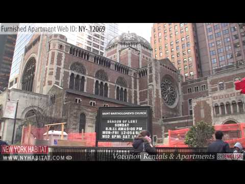 Midtown East - Video tour of a furnished apartment on East 51st Street (Manhattan, New York City)