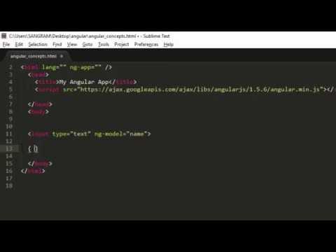 AngularJS ng-model, ng-bind & Express Tutorial for Beginners
