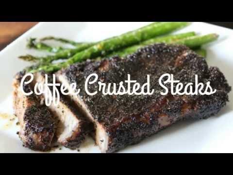 Coffee Crusted Steaks