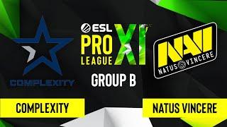 CS:GO - Natus Vincere vs. Complexity Gaming [Dust2] Map 2 - ESL Pro League Season 11 - Group B
