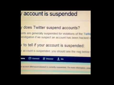 SUSPENDED ON TWITTER :'(