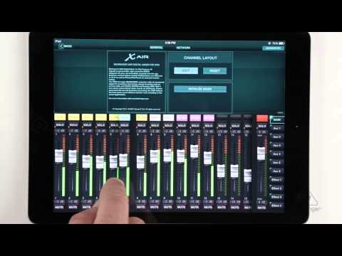 X AIR How To: Setup Channel Names & Fader Layout (iPad)