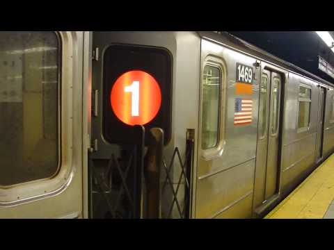 IRT 7th Ave Line: R62 1 Train at 34th St-Penn Station-Madison Square Garden (Weekend)