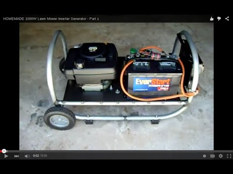 HOMEMADE 1000W Lawn Mower Inverter Generator - Part 1