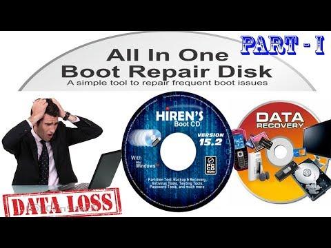 Hiren's boot CD, Lost Data Recovery, Windows Password Crack, Virtual Mini Windows XP Part I