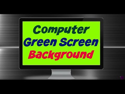 Green Screen Computer Background iMovie