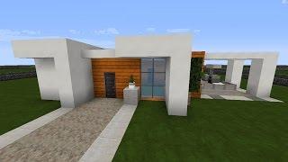 Minecraft Modernes Haus Schlicht Grauweiß Bauen Tutorial - Minecraft grobes haus bauen anleitung