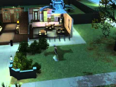 The Sims 3 University: Old Lady Getting Abducted By Aliens!