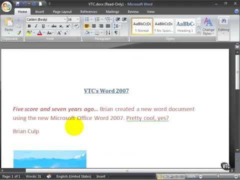 Microsoft Word 2007 ENG TB 08 03 Use Smart Tags