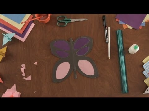How to Make a Tissue Paper Butterfly : Paper Art Projects