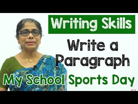 How to Write a Paragraph about My School Sports Day | Composition Writing  | Reading Skills