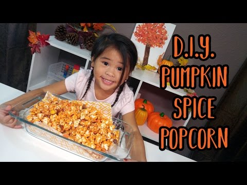 DIY Pumpkin Spice Popcorn Recipe | Pumpkin Pie Spice White Chocolate Popcorn | Easy Recipes for Kids