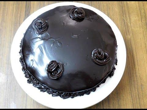 Easy Eggless Whole Wheat Chocolate Cake Recipe   chocolate truffle cake    चॉकलेट केक बनाने की विधि