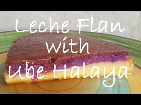 Leche Flan with Ube Halaya | How to cook Leche Flan with Ube Halaya | Dessert Recipe