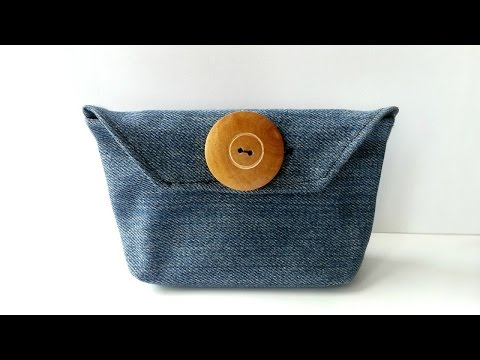 How To Create a Simple Jeans Purse - DIY Style Tutorial - Guidecentral