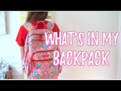What's In My Backpack 2017! Senior Edition ft. Vera Bradley
