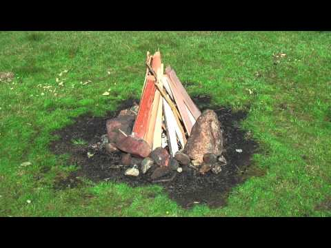 How To Make A Fire - TeePee Method