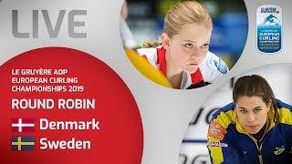 Denmark v Sweden - Women's round robin - Le Gruyère AOP European Curling Championships 2019