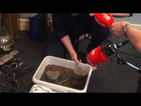 Emmy nominated Foley Artist Caoimhe Doyle demonstrates movie sound effects