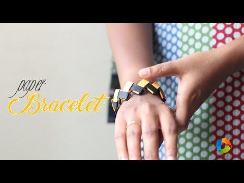 How to Make : Origami Paper Bracelet