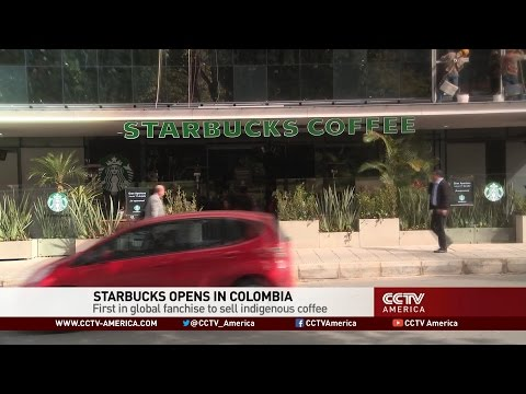 Starbucks opens in Colombia as first global franchise to sell indigenous coffee