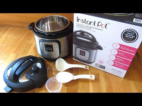 Instant Pot DUO Mini | 3 Quart Detailed View and Size Measurements | 7-1 DUO Series