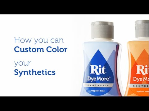 How to Dye Polyester, Synthetics and Plastic with Rit DyeMore