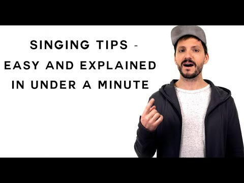 Singing Tips - Easy and Explained in Under a Minute
