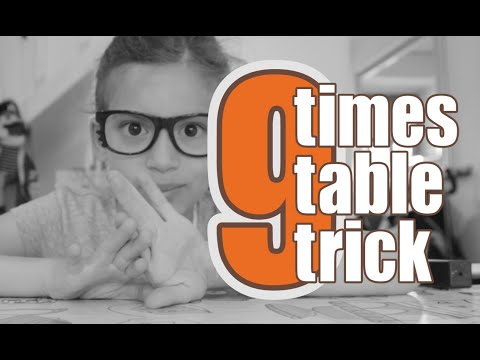 9 Times Table • The best trick to learn you 9 times table