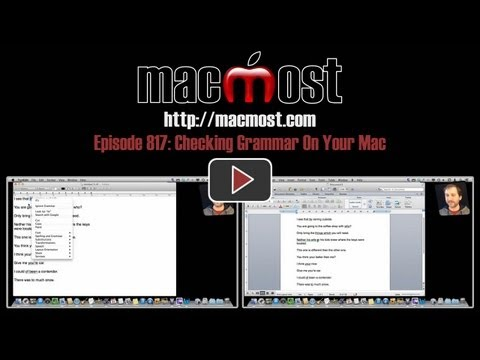 Checking Grammar On Your Mac (MacMost Now 817)