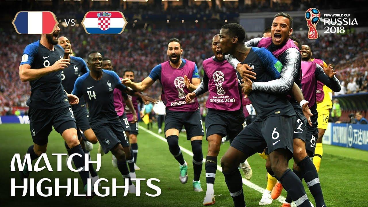 2018 WORLD CUP FINAL: France 4-2 Croatia