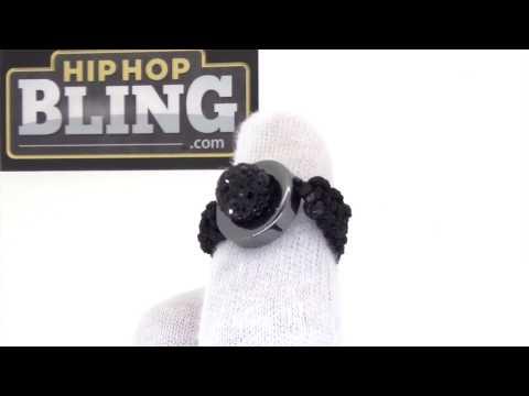 Black Bling Bling Disco Ball Ring