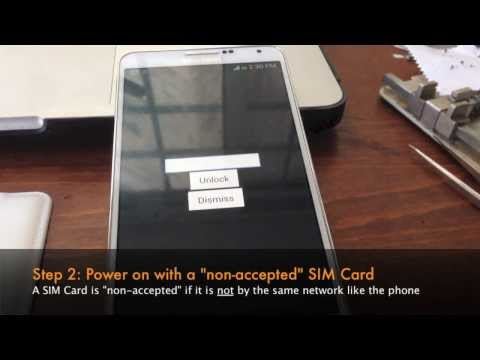 How to Unlock Samsung Galaxy Note 3 III by Unlock Code - SIM Network Unlock PIN
