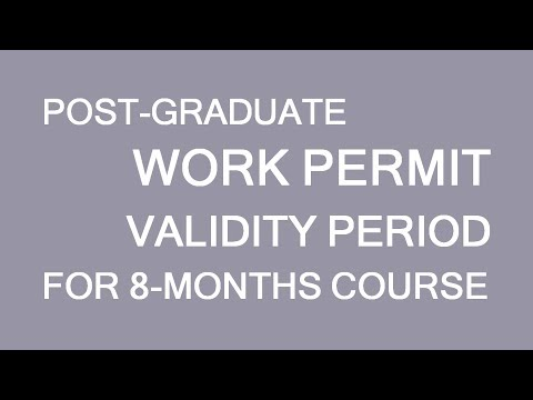 Post-graduate work permit validity period. Study in Canada. LP Group