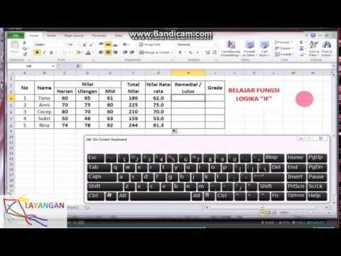 Microsoft Excel untuk pelajar 2 LOGIKA IF AUTO