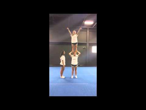Advanced Cheerleading Stunt Progression: Shoulder Stand