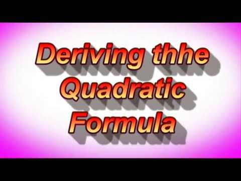Deriving the Quadratic Formula  Dr  Dawes Video Tutor. YouTube.