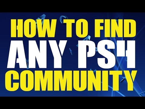 How to Find ANY PS4 Community Group Pages - Look Up Search Join PS4 Communities Tutorial