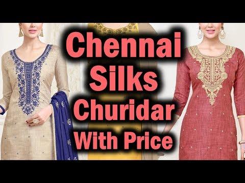 Chennai Silks Churidar Materials Latest Collection