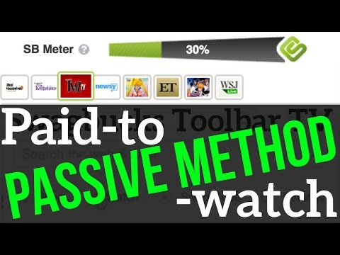 Earn Money Watching Passively with Videos: Toolbar TV Swagbucks