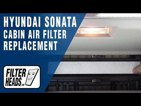 How to Replace Cabin Air Filter 2015 Hyundai Sonata