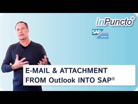 Transfer email & attachment from Outlook into SAP with inPuncto biz²Office