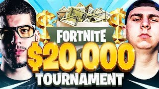 Fortnite YouTuber Tournament for $20,000! (BEST DUO EVER?!)