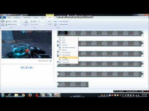 How to cut and combine video using Windows Movie Maker *EASY*