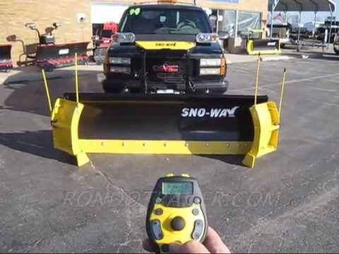 Sno-Way Revolution 10' snow plow with wireless remote RondoRevolutionHD