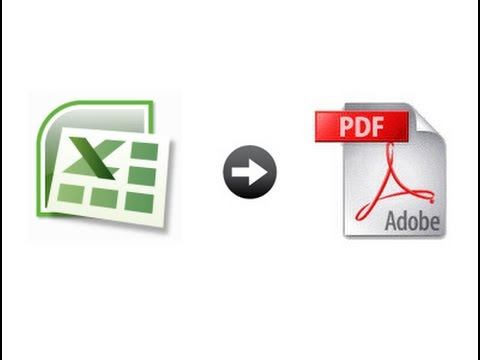 How to convert excel file in pdf 2017