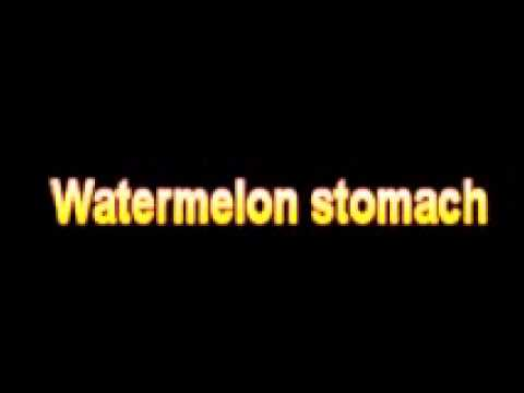 What Is The Definition Of Watermelon stomach