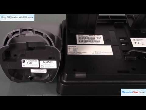 How to Use Plantronics CS50 with Avaya 1416 Phone